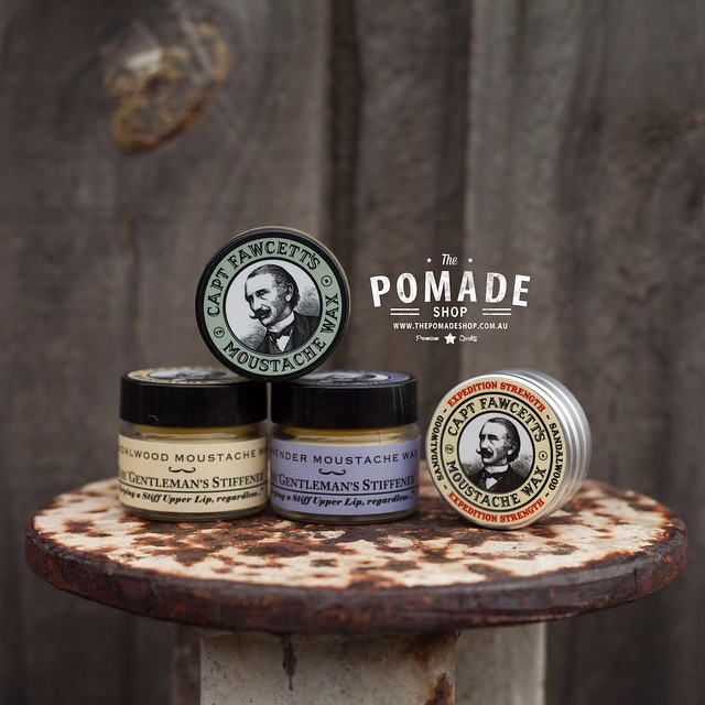 •Captain Fawcetts Mo Wax• handmade in England using the finest ingredients @captainfawcett #thepomadeshop #thepomadeshopaus #beard #mowax