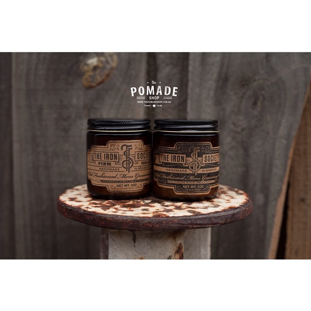 ~The Iron Society~ Both Firm & Medium hold. Handmade in Brooklyn USA. One of our most popular pomades! #pomade #dapper #gents #thepomadeshop #thepomadeshopaus #theironsocietypomade