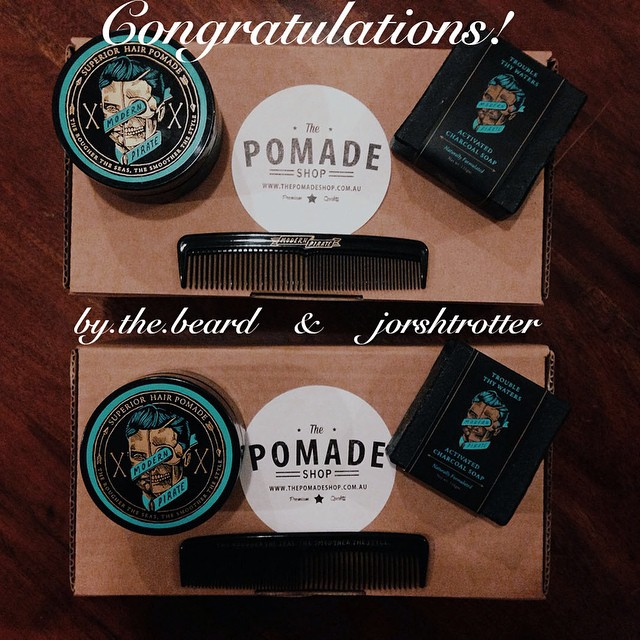 Congrats to @jorshttotter & @by.the.beard!! Another huge thank you to @modern_pirate! We had so much fun doing #thepomadeshopgiveaway that we are gonna do another one next week! If the winners wanna send us an email with their details we can get these packs to you asap! #thepomadeshop #thepomadeshopaus