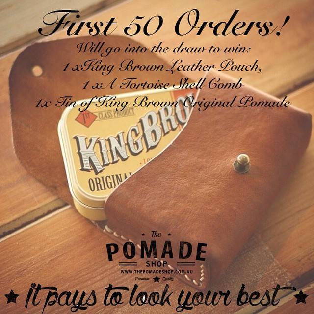 To celebrate the launch of @kingbrown_pomade we are giving away this dapper little combo. Our first 50 King Brown Original customers will go into the draw to win! Winner will be drawn 25th of Sept. #kingbrownpomade #internationalshipping #pomade #thepomadeshop #thepomadeshopaus