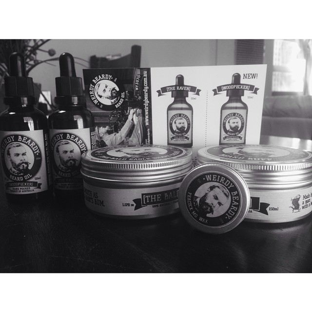 We got a little package from @weirdybeardyoils to test out today! Beard oils, Shave Cream, Mo wax & a Beard Buff (For getting that grub outta ya beard). It looks like we will be stocking this range very soon! #beards #beardoil #thepomadeshop #thepomadeshopaus