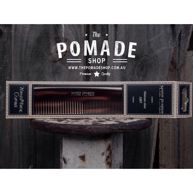Mason Pearson Combs have arrived and will be available tonight!  If there ever was one comb to have on the dresser for the rest of your days..this would be it    #handmade #masonpearson #menscombs #quality #thepomadeshop #mensstyle #dapper #vintage