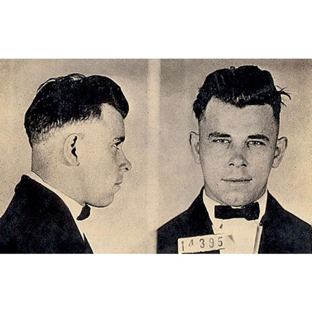 John Dillinger Aka Public Enemy No.1. Proof that with a good haircut you can get away with anything (nearly)…..'It Pays To Look Your Best' #razorfade #johndillinger #itpaystolookyourbest #vintage #pomade #thepomadeshop #thepomadeshopaus