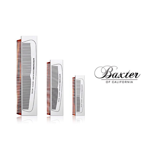 Baxter of California combs are handmade from high quality polymer in Switzerland. @baxterofca   Available in all 3 sizes    #thepomadeshop #beards #beardcombs #mensstyle #mensgrooming #baxterofcalifornia