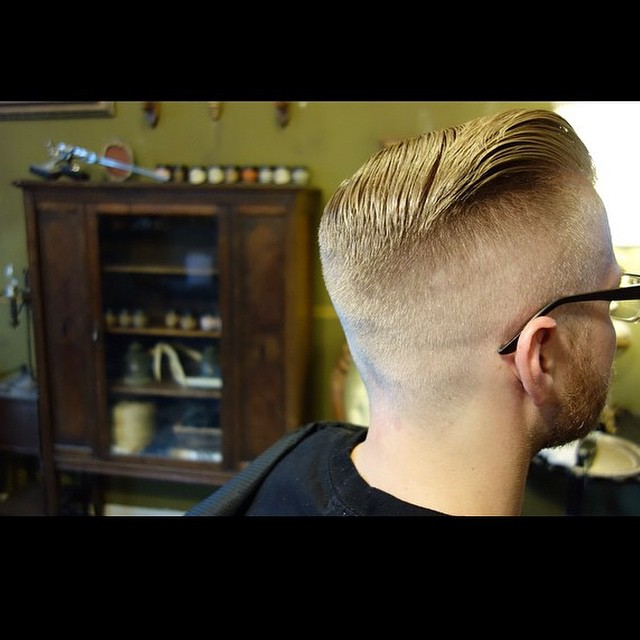 Humbly hashtagged #haircut by @theironsociety's Chris Desanty. Check out their old fashioned style pomades in our shop. Both Firm & Original hold #thepomadeshop #theironsociety #pomade #mensstyle #mensgrooming #oldskool