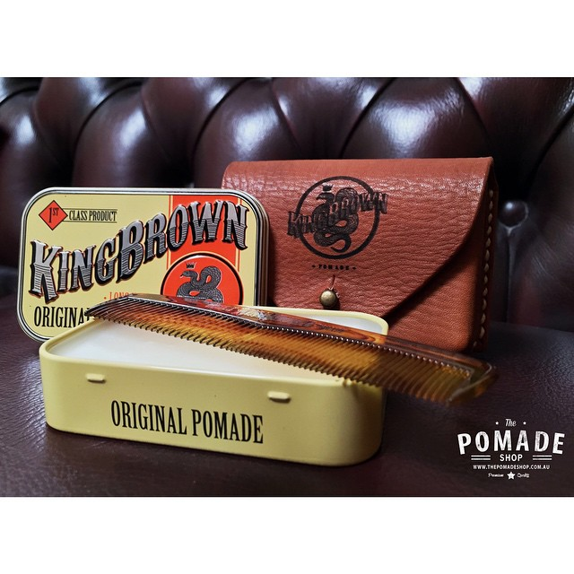 The King Brown Leather Holster is back in the shop.. Awesome chrissy gift but we have limited number so get in early. www.thepomadeshop.com.au #kingbrownpomade #thepomadeshop #livelikekings #leather #chesterfield #dapper #vintage #mensstyle #mensgrooming