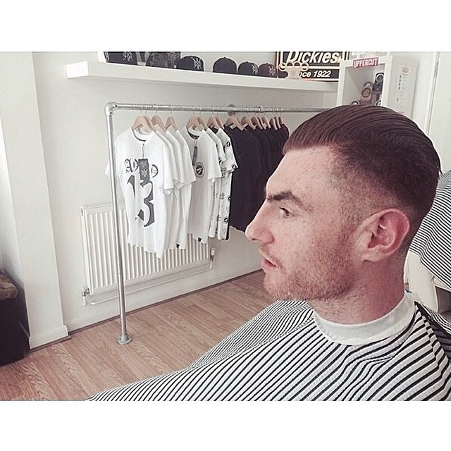 Our mate & talented designer @toddgregory had the pleasure of getting a cut by the legends @aono_barbershop in Brighton. Looking classy as always 👌       www.thepomadeshop.com.au       #thepomadeshop #aonobarbers #barberlife #barbers #uppercut #dapper #vintage #oldskool