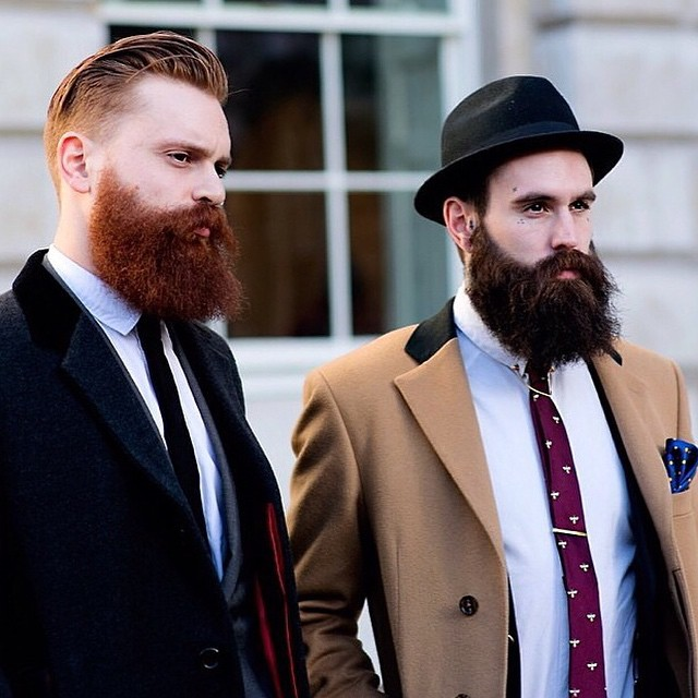 @tymoorg & @rickifuckinhall at London Fashion week 2014. Hair & beards looking👌 www.thepomadeshop.com.au #beards #beard #pomade #mensstyle #mensgrooming #thepomadeshop #itpaystolookyourbest #dapper