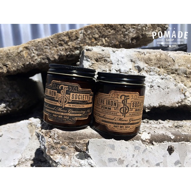 Chris Desanty's @theironsociety pomade. We are excited to be stocking the new water-based formula for summer. In store soon!       www.thepomadeshop.com.au       #pomade #theironsociety #thepomadeshop #itpaystolookyourbest #melbourne #dapper #barber #barbermade #mensstyle #mensgrooming
