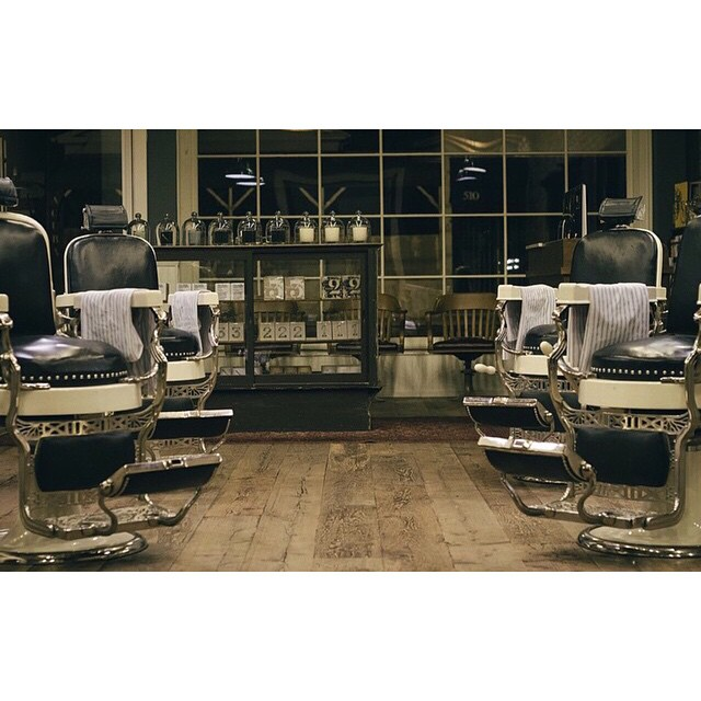 Take a look inside @baxterfinley barbershop California.. The closet feeling to sitting in one of these chairs is using their amazing range of mens grooming products.. Available at        www.thepomadeshop.com.au       #thepomadeshop #baxterofca #barber #beard #mensstyle #mensgrooming #barbershop #vintage