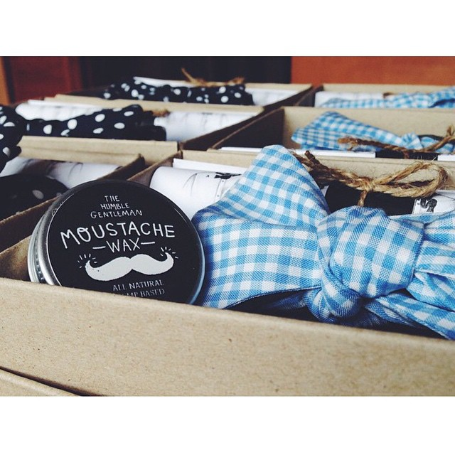 Available in store from tomorrow.. our limited edition gift set from @thatdapperchap_ & @humblebody   A very neat choice of 2 bowties & an all natural Mo Wax for yourself,  or a present for #thatdapperchap you know & love       www.thepomadeshop.com.au       #thepomadeshop #dappermovember #moustache #bowtie #vintage #oldskool #mensstyle #mensgrooming #thehumblebody