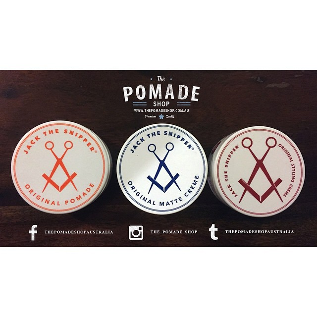 @jackthesnipper_ is now available in store! A fine selection of hair products for each and every type of style or hair.. Feel Dressed     www.thepomadeshop.com.au       #thepomadeshop #jackthesnipper #australianmade #mensstyle #mensgrooming #dapper #pomade