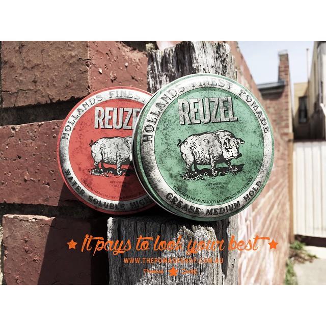The @reuzel collection. Reuzel translates to Lard in English. Pomades were made from pig lard, bear fat, lanolin & even apple back in the day..#pomadefacts www.thepomadeshop.com.au #thepomadeshop #mensstyle #pomade #mensgrooming #dapper #slickanddestroy #vintage #barber #barberlife