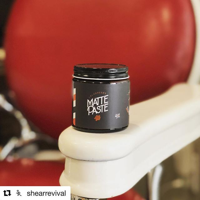 @shearrevival ・・・ Shear Revival private label for Calabrese's Barber Shop It's their Northern Lights formula with a hand blended citrus & bay rum scent...HAVE AT IT! Small batch available now @the_pomade_shop  This month FREE SHIPPING!!