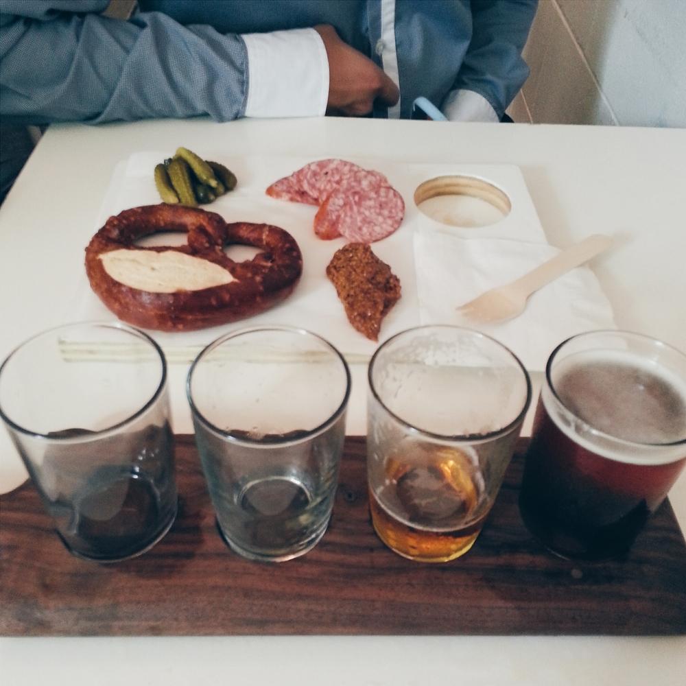 bestie board + beer flight