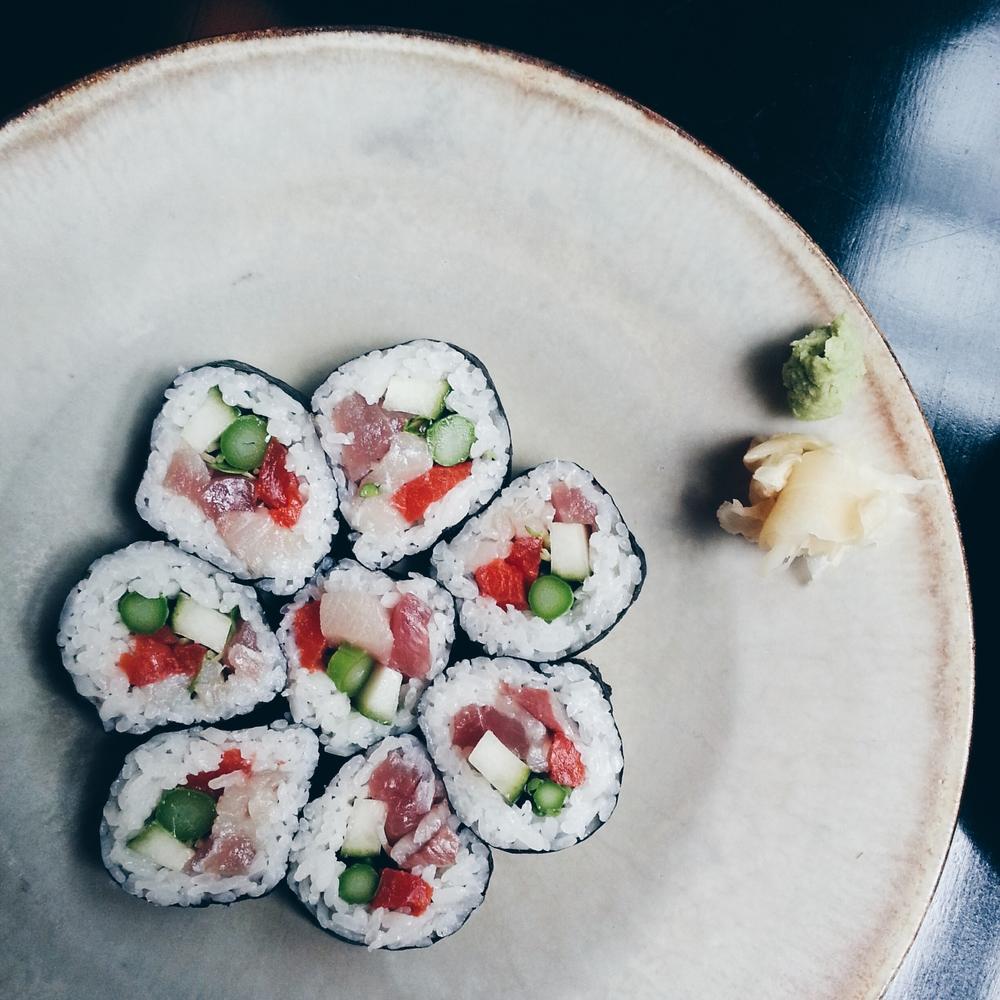 + sushi: shirakawa maki