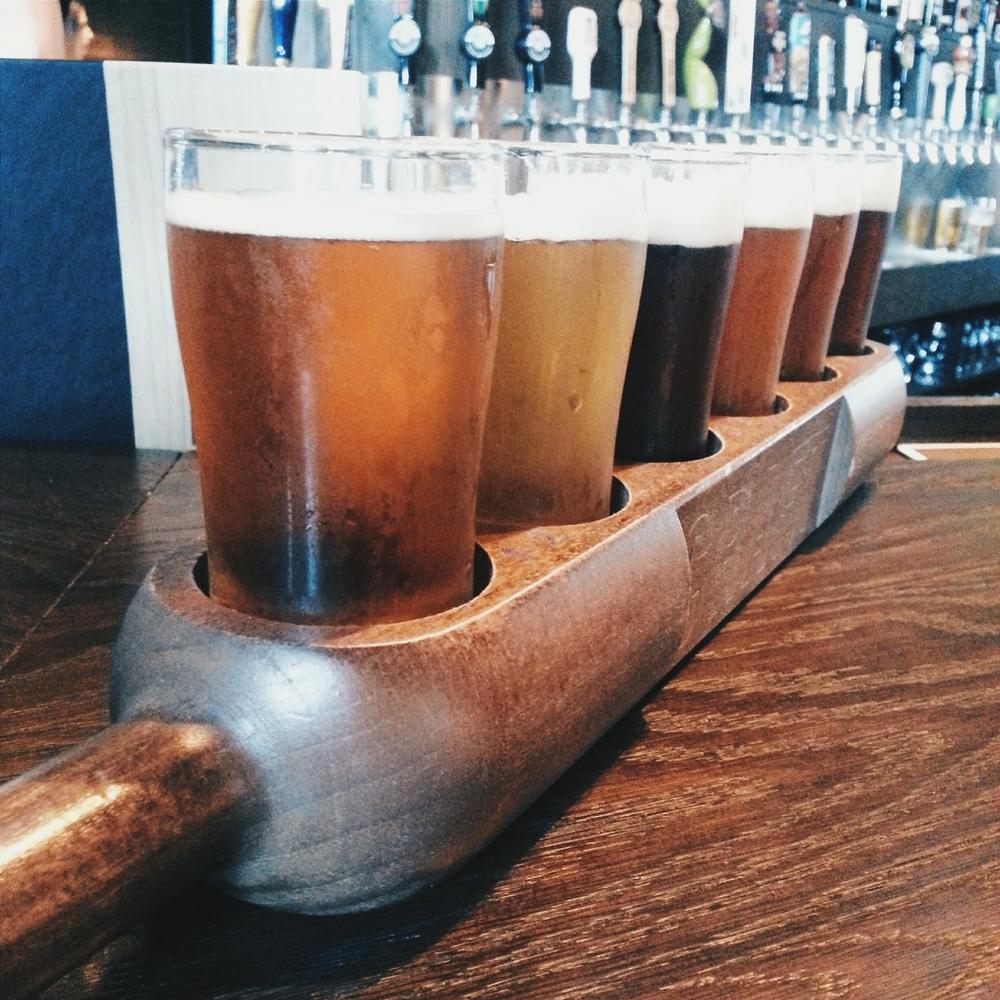 + beer flight: Around the World