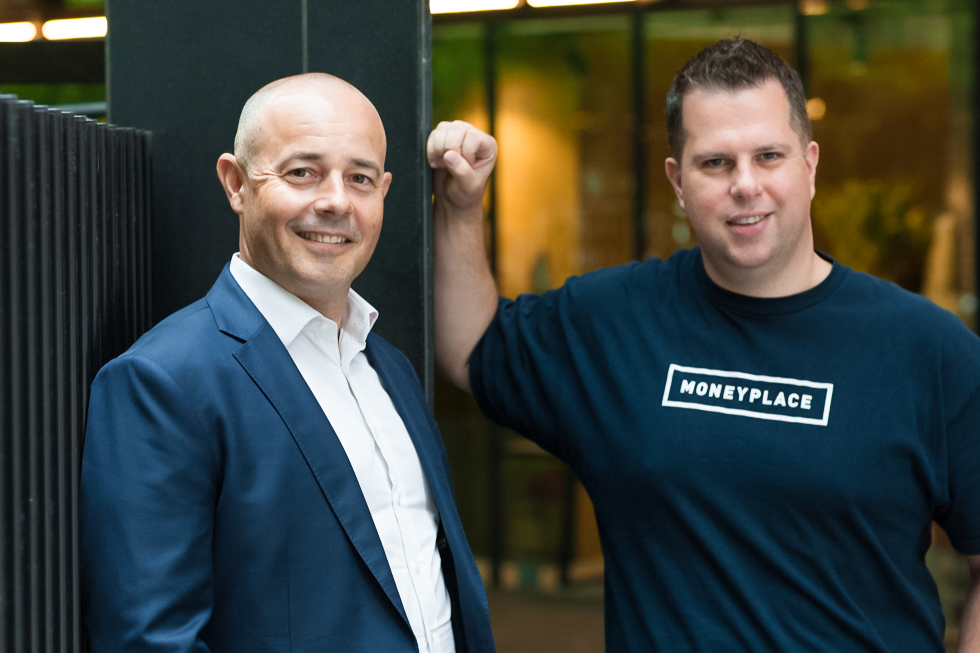 James Boyle CEO of  Liberty  and Stuart Stoyan CEO  Moneyplace  on location Melbourne city. Image published in The Financial Review.