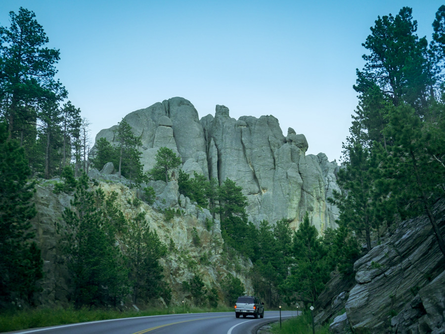 The drive to the Mt. Rushmore memorial is spectacular. I took this picture just because it was a neat rock formation. I realized later I had inadvertently captured  Clinton Rock .