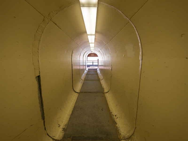 If you have visited the Pit you know the tunnel to the viewing stand.