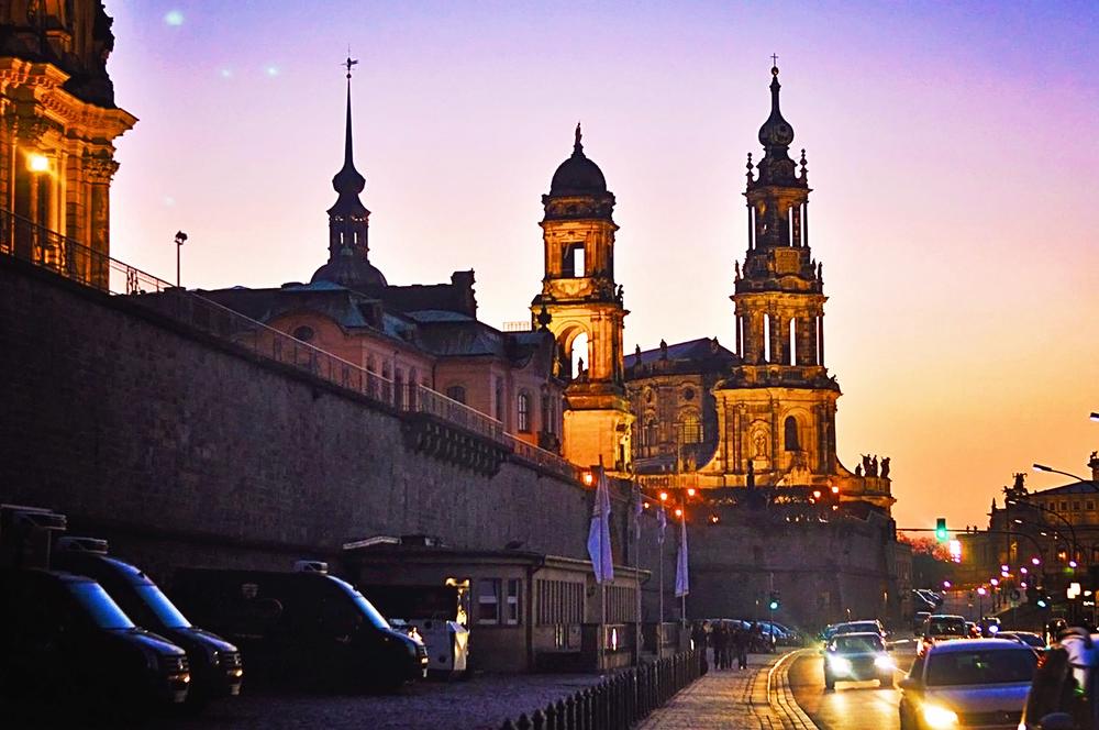 Dresdan old city altstadt germany