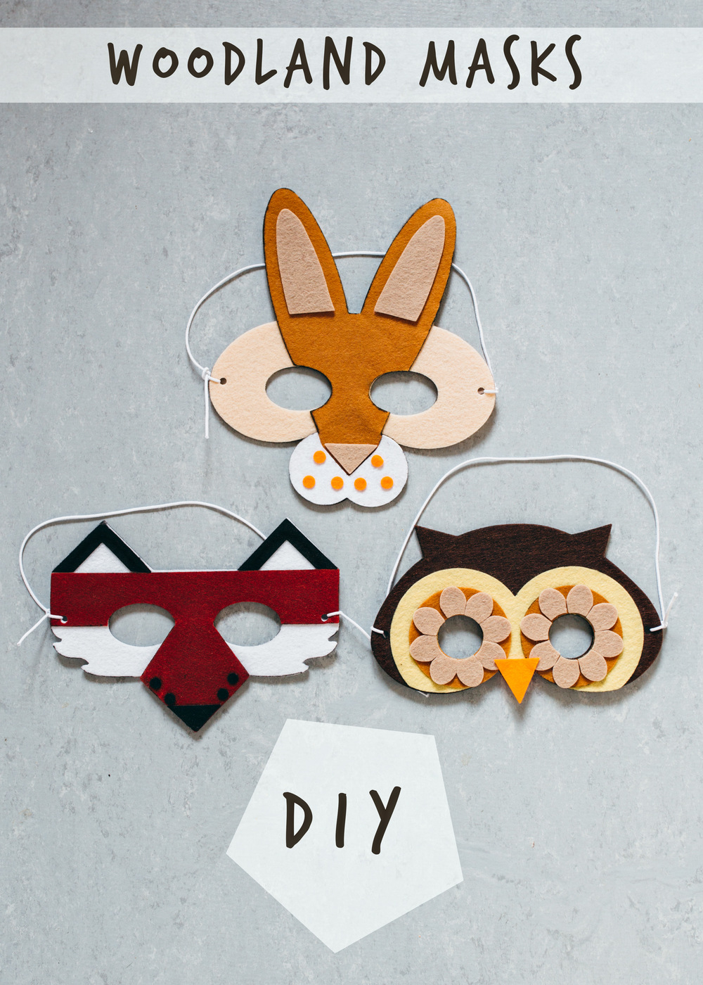 Woodland Masks DIY