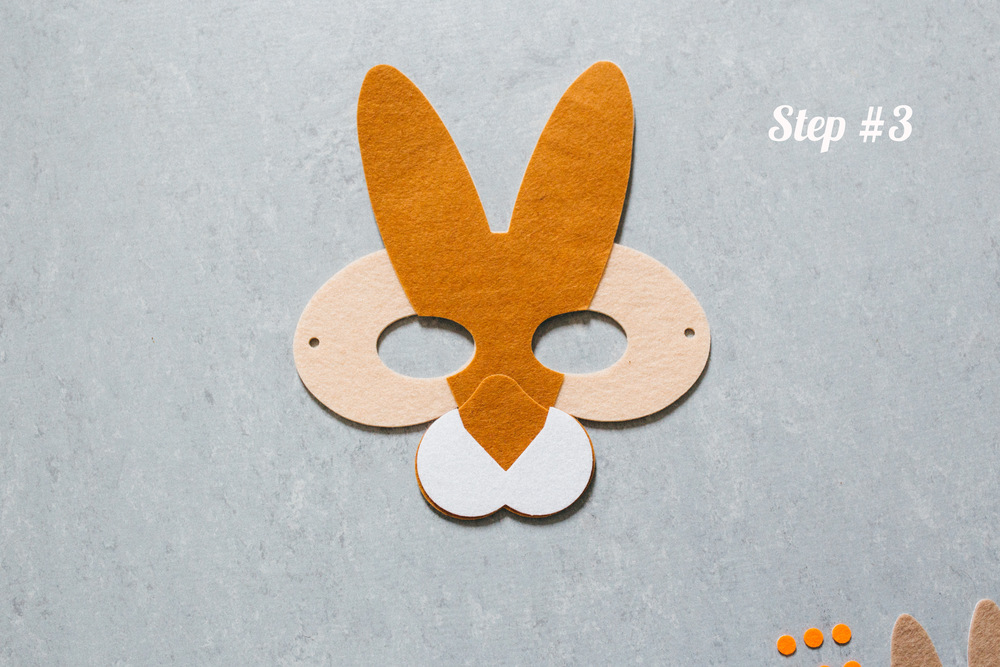 Rabbit Mask step 3
