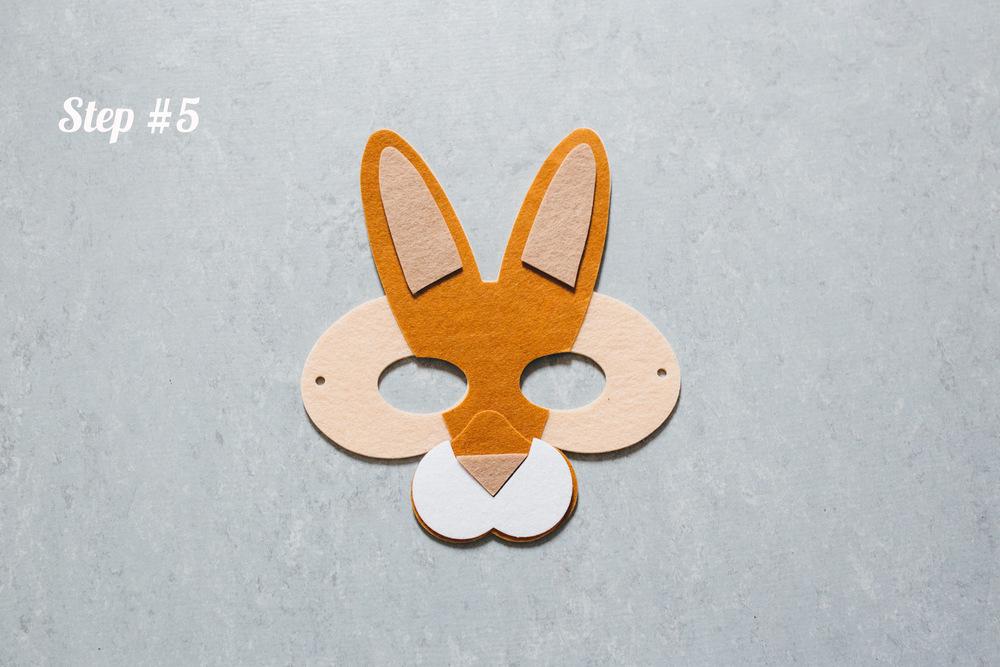 Rabbit mask step 5