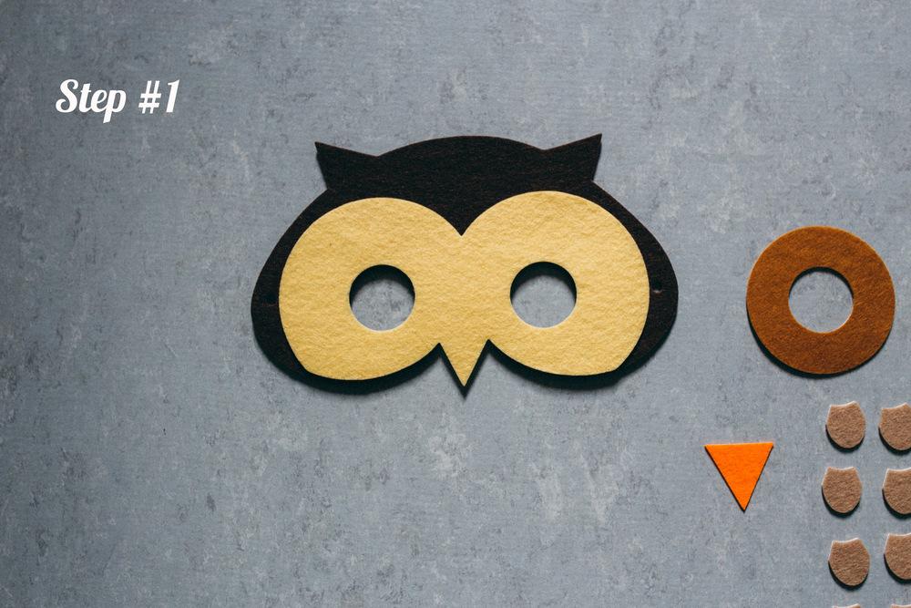 owl mask step 1
