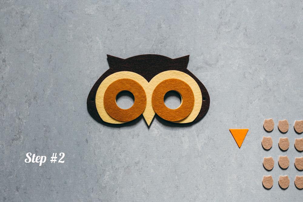 Owl mask step 2