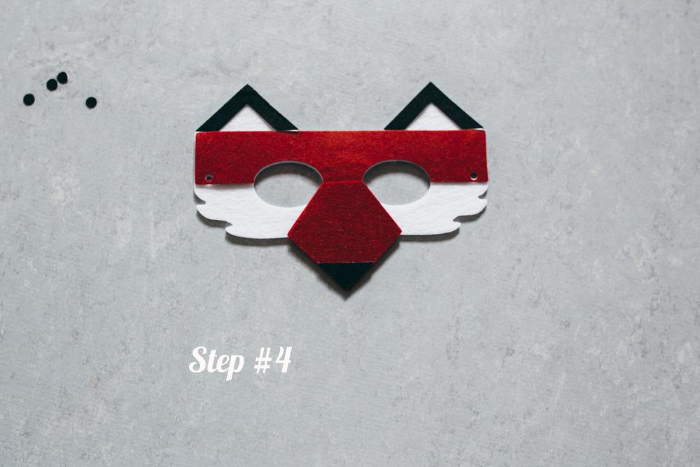 Fox mask step 4