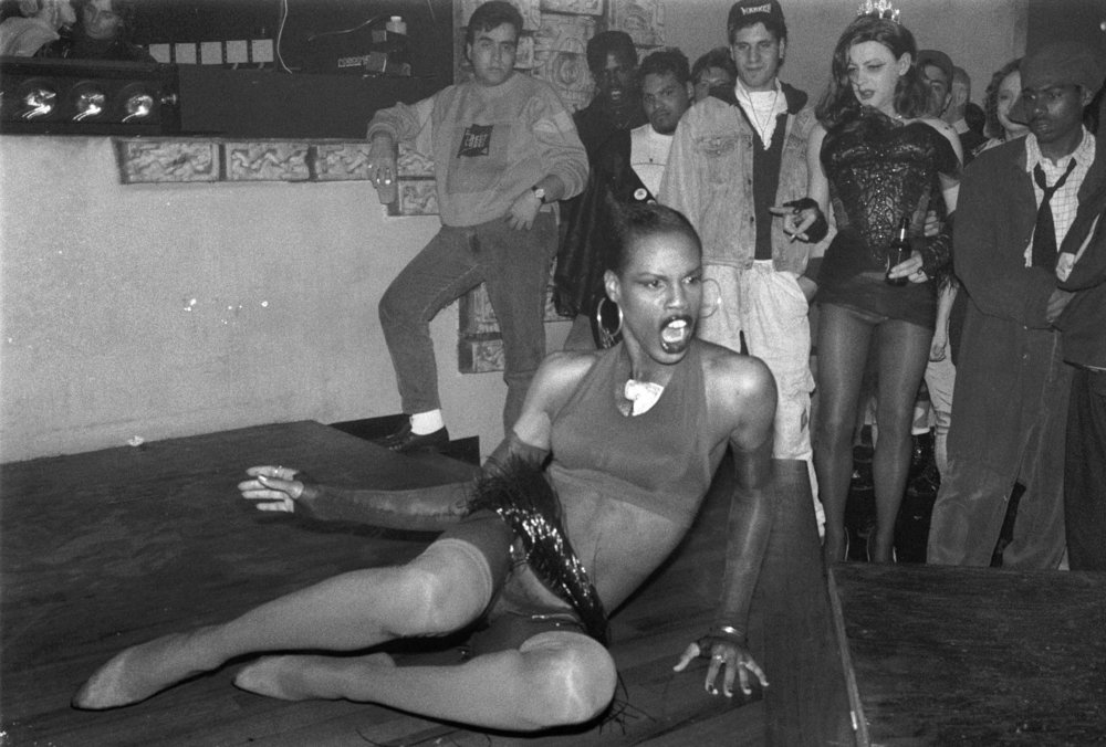 Connie Girl Performance at Quick, 1990.  Photography by Tina Paul.