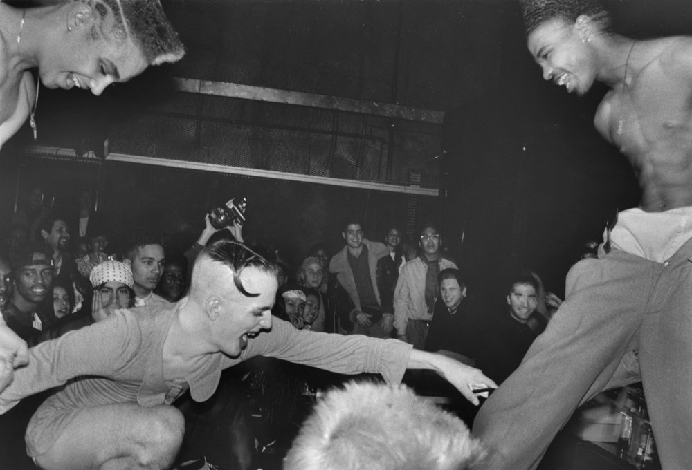 Michael Alig at Dirty Mouth Contest at Redzone, 1990.  Photograph by Tina Paul.