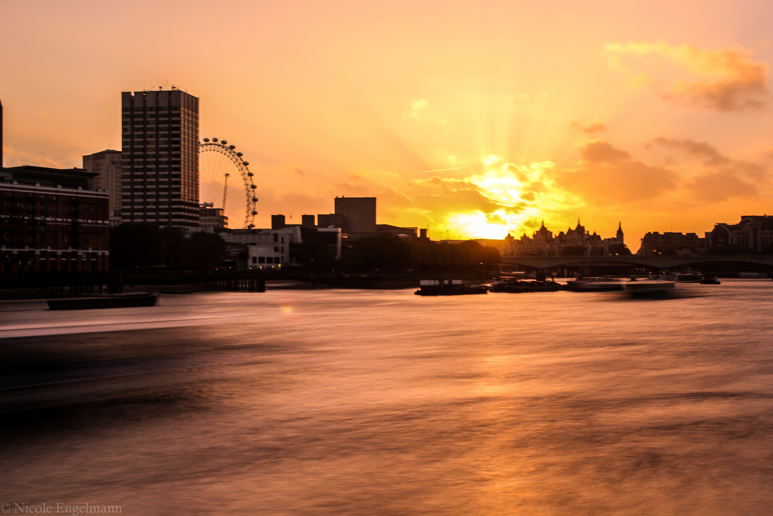 London Sunset Blackfriars Bridge