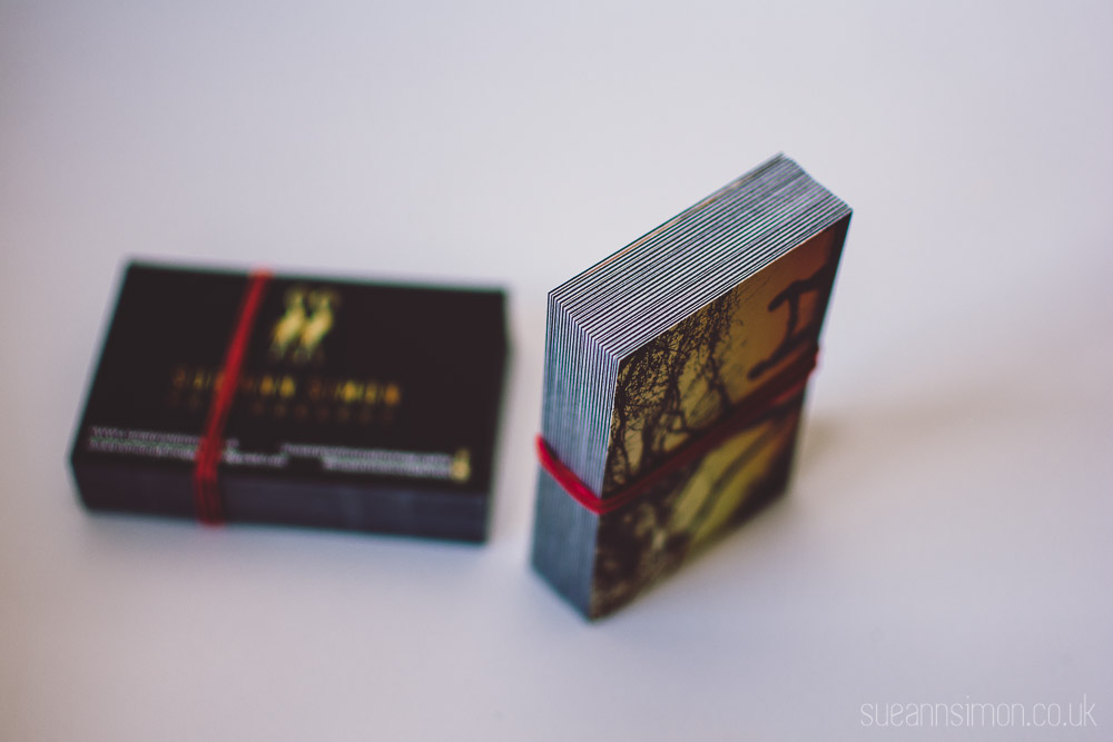 boo luxe business card diy gold edge
