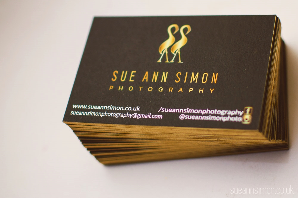 moo luxe business cards DIY gold foil edge