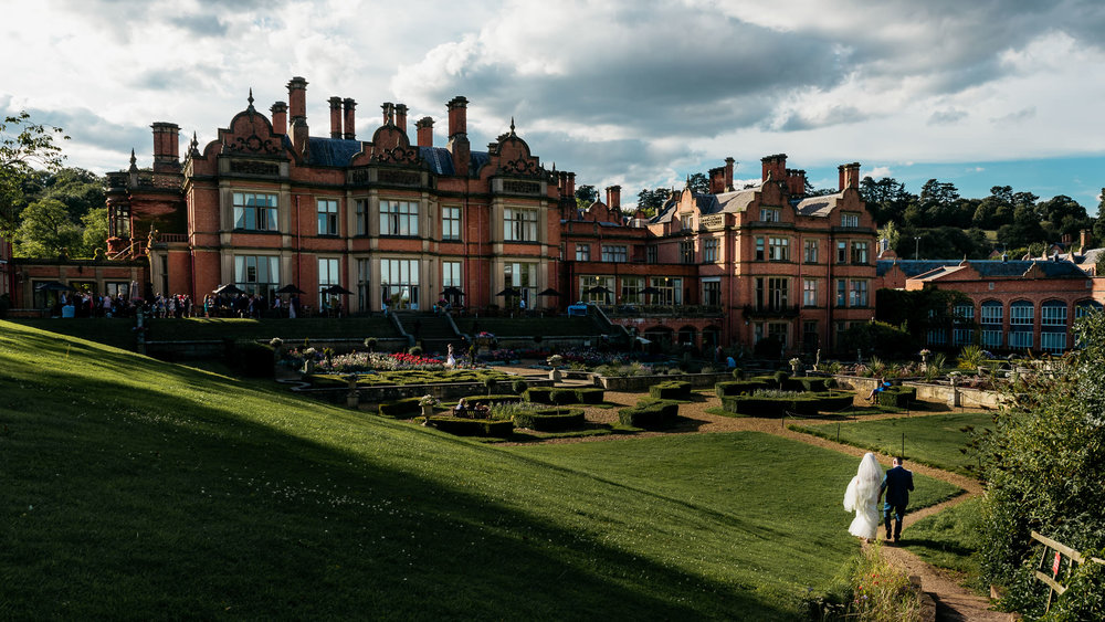 The Welcombe Hotel in all it's sunny glory on I +T's summer wedding day!