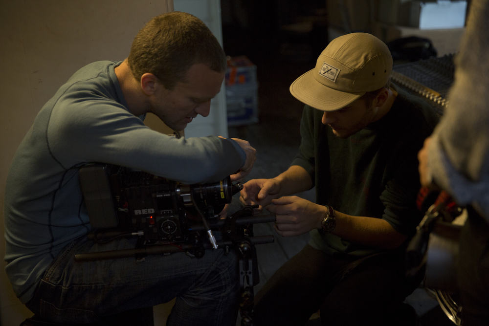 Morten and Chris prepping at location