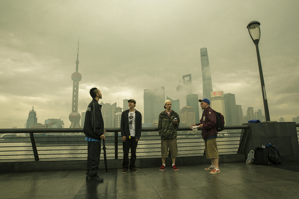 Connect crew at the Bund, Shanghai.