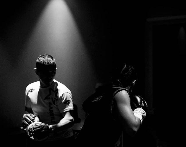 WBC International Lightweight Championship Title:  Pre-game locker room warm-ups with Norwegian Katharina Thanderz  @katharina_thanderz  #boxing #wbc #boksing #women #photography #katharinathanderz #oslo #norway #photography #sport #bw #monochrome #canon #fight