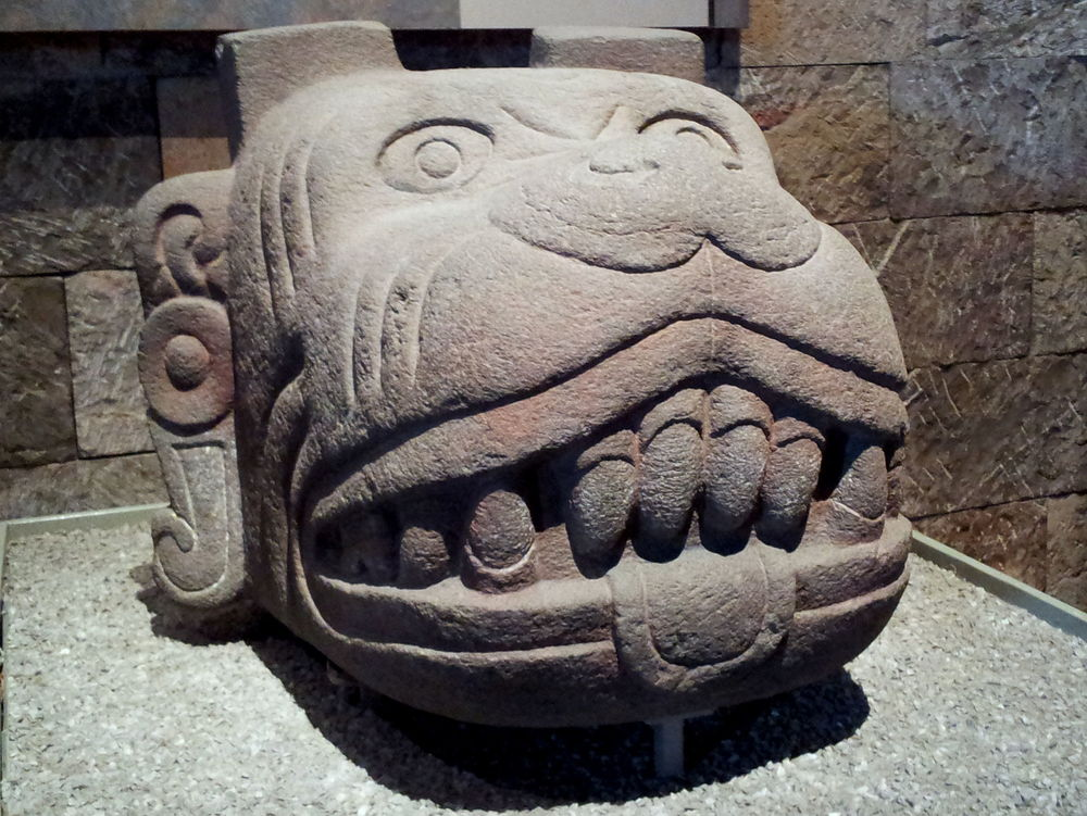 Okay, so not a chihuahua, but this is what I was thinking of. Xolotl, Aztec dog god. Kind of huge and scary.