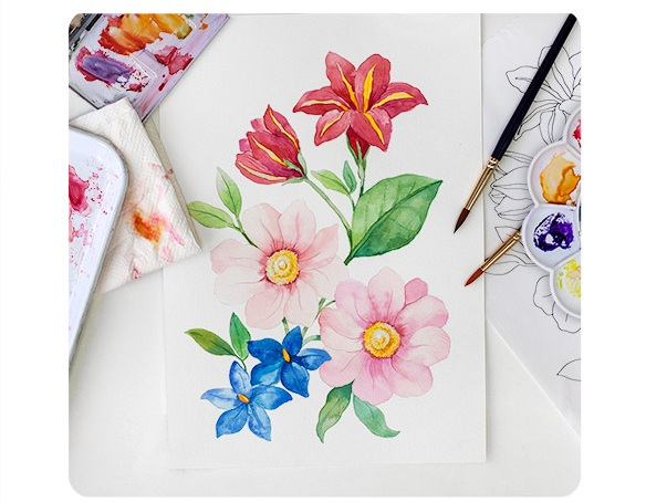 Botanical Style FloralsWatercolour Workshop - NEXT: 23 of March, 2019£63.00WHERE: VARIOUS LOCATIONS