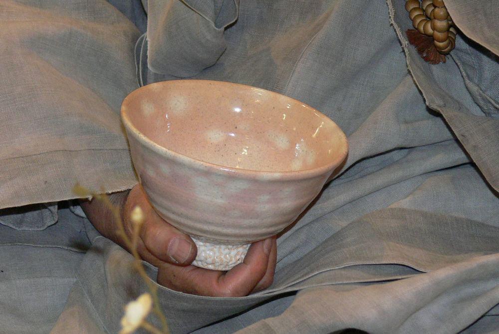 Kom met perzik bloesem glazuur / Bowl with peach blossom glaze