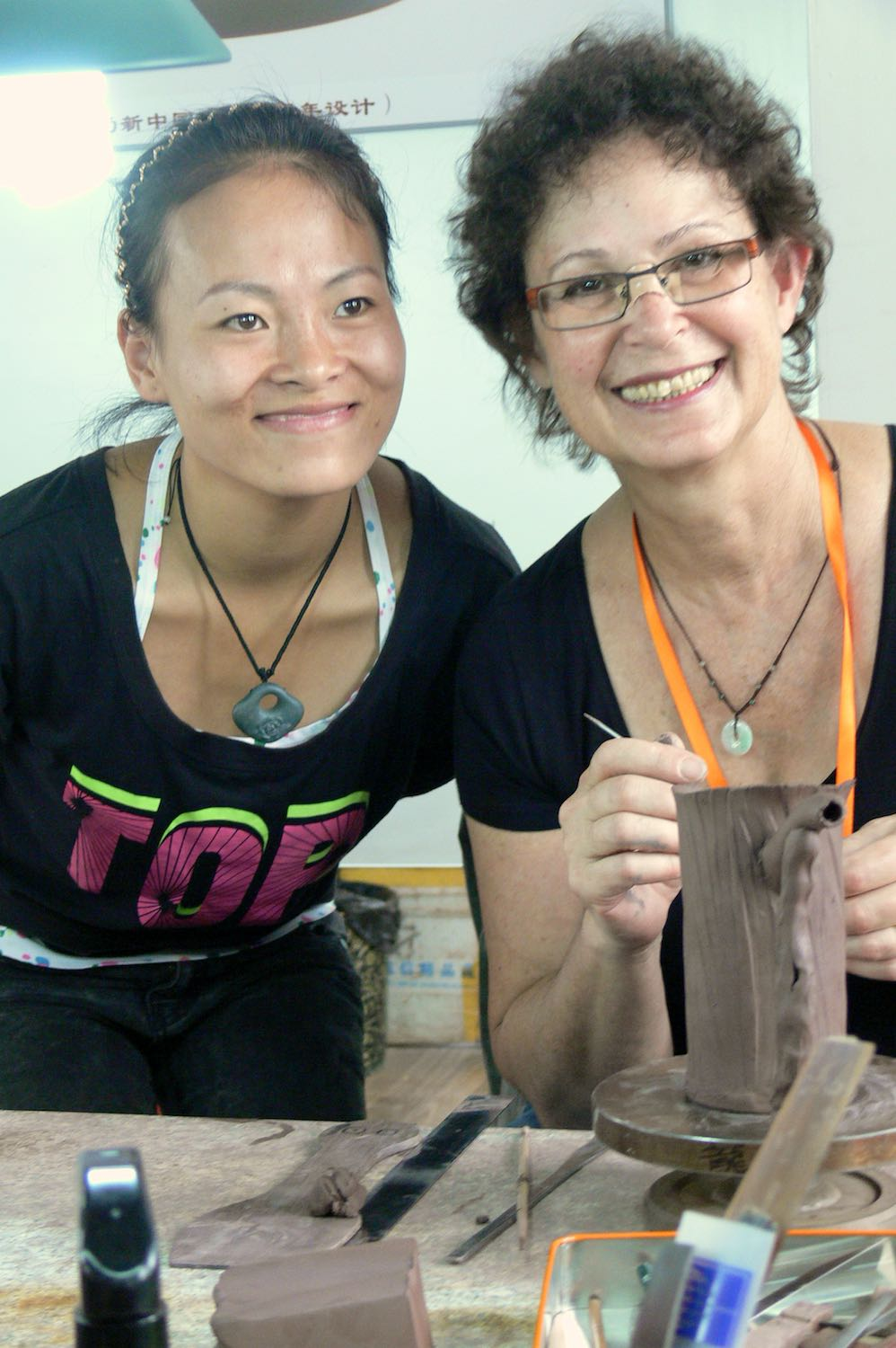 2012 - trying out Purple Clay with students