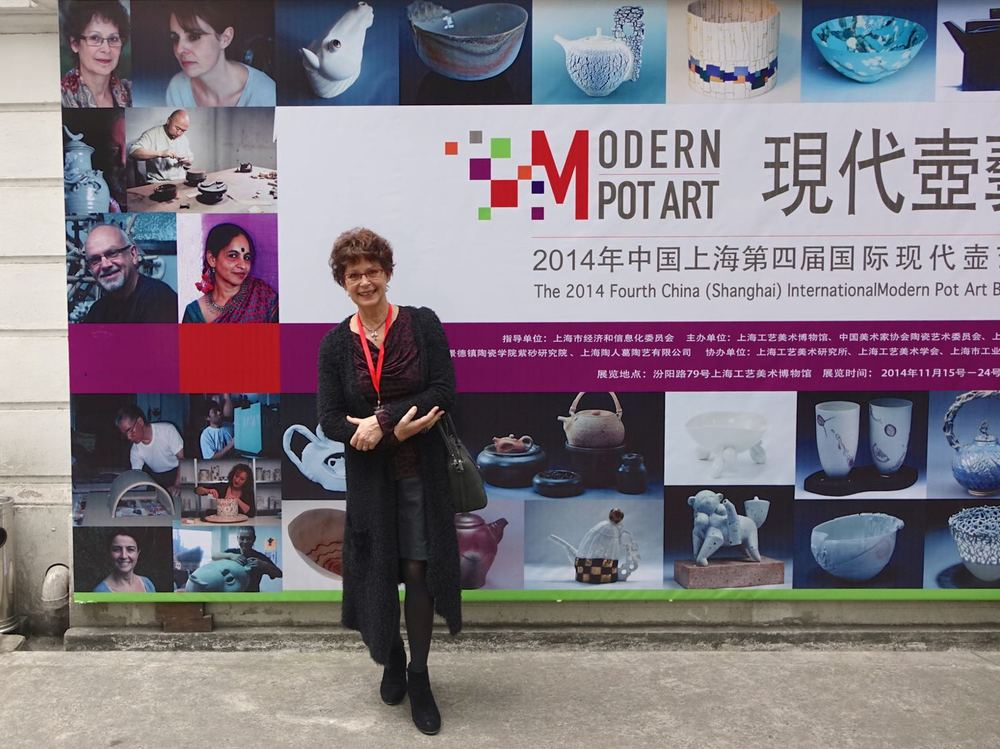 In front of the 4th 2014 Shanghai Modern Pot Art Exhibition