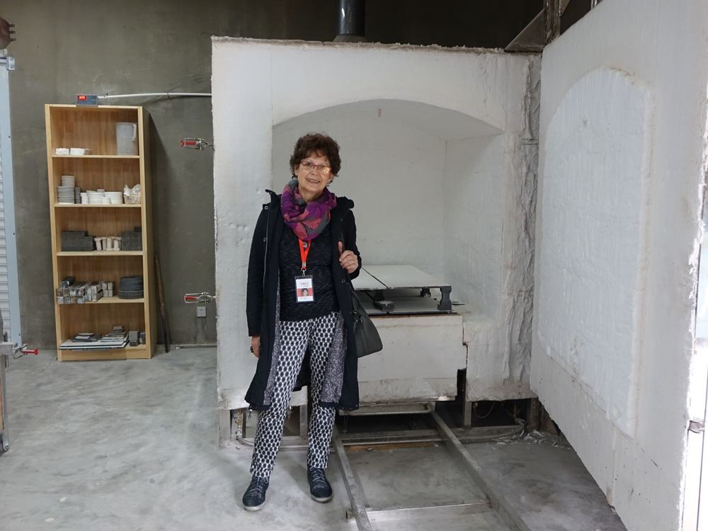 2014 –in front of one of the many kilns of the Academie