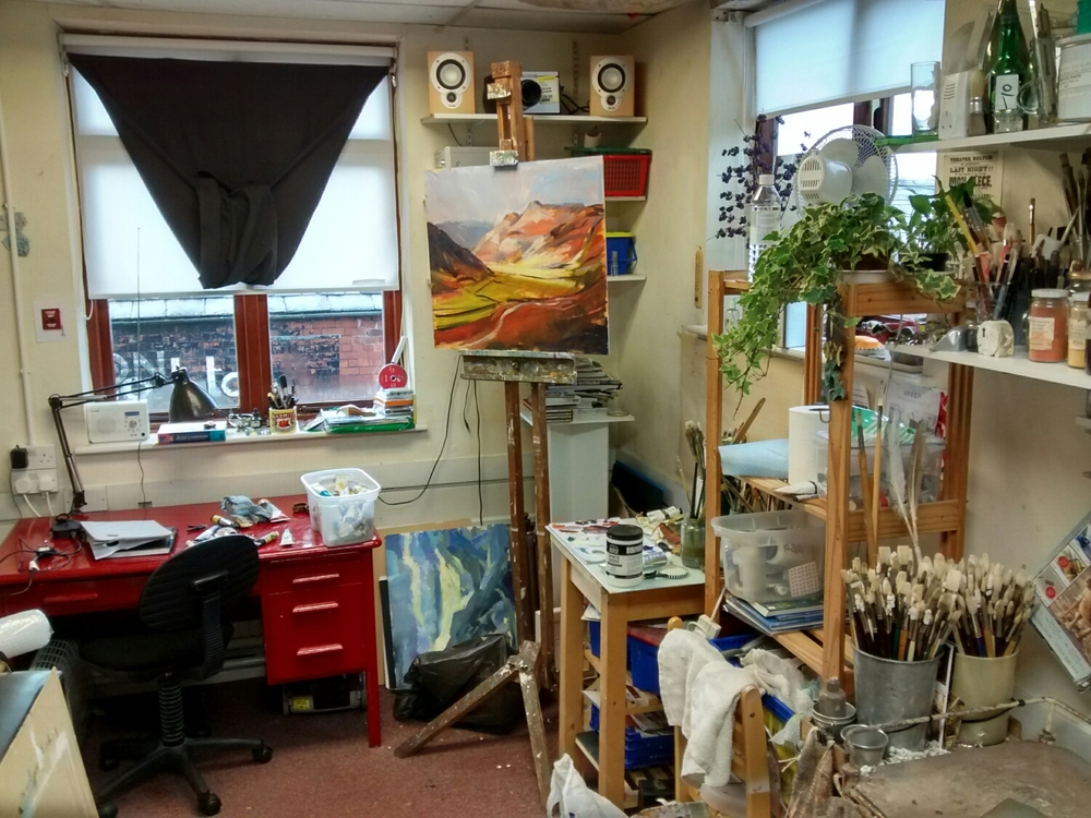 A messy studio is a creative studio. I think.