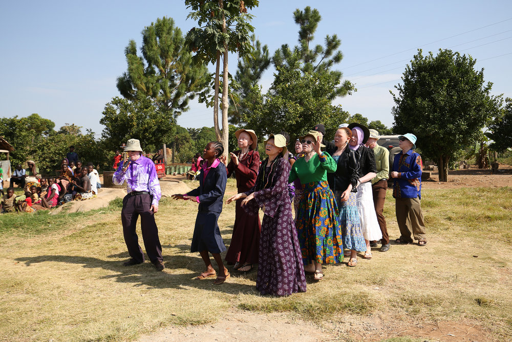 The Tanzania Albinism Collective sing to their community about their plight on International Albinism Day at The Umoja Training Centre (UTC).