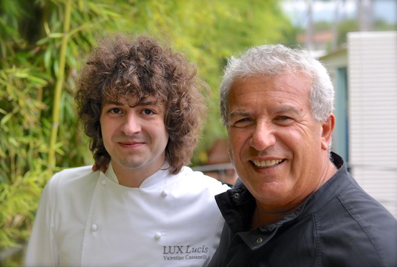Igles e lo chef Valentino Cassanelli del ristorante Lux Lucis- Luglio 2014