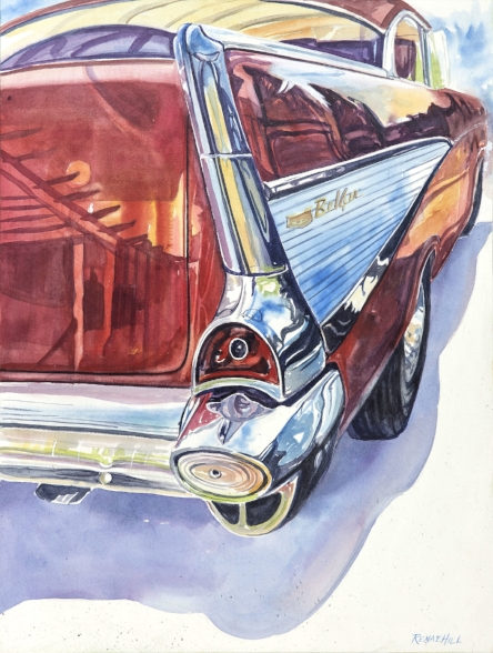 57 Chevy   Watercolor 18x24